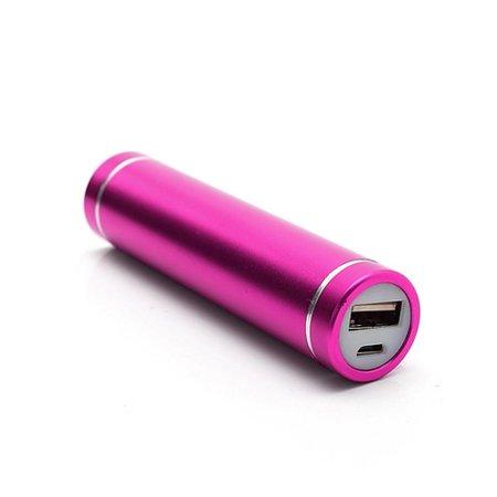 Metalen Mini Powerbank 2600 mAh - Roze