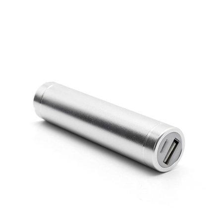 Metalen Mini Powerbank 2600 mAh - Zilver