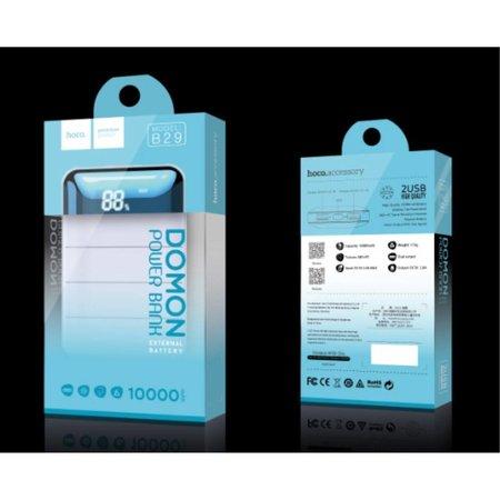 HOCO HOCO Domon Powerbank Dual USB 10000 mAh - Wit / Zwart