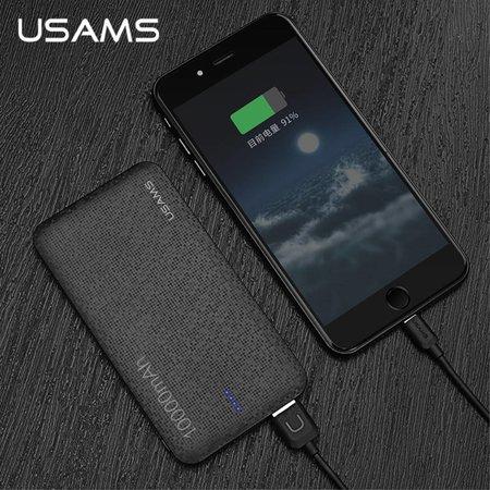 USAMS USAMS Mozaïek Series Dual USB Powerbank 10000 mAh - Zwart