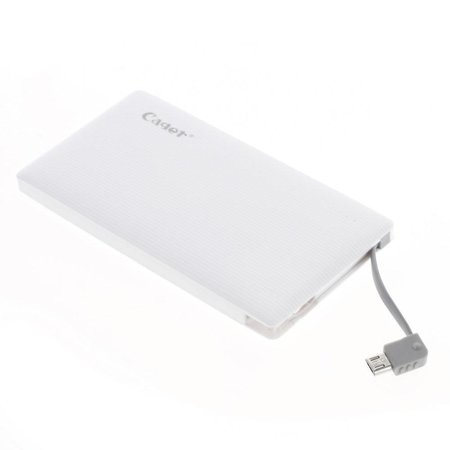 Cager CAGER Ultraslim 4000 mAh 1.5A Powerbank - Wit