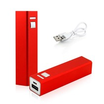 Mini Powerbank 2600 mAh - Rood