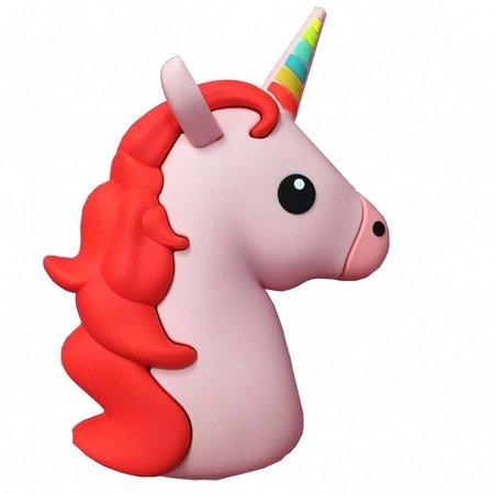 Unicorn Emoji Powerbank 3600 mAh - Roze / Rood