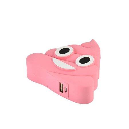 Lachende Drol Emoji Powerbank 3600 mAh - Roze