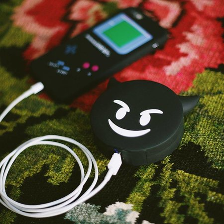 Zwarte Duivel Emoji Powerbank 3600 mAh