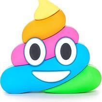 Regenboog Drol Emoji Powerbank 5500 mAh