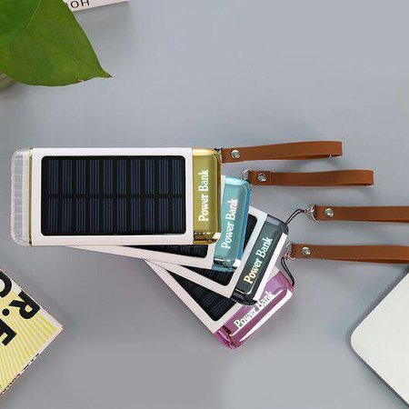 Solar Powerbank 5500 mAh - Blauw