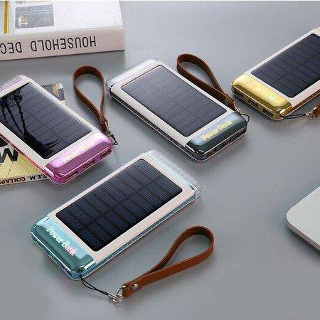 Solar Powerbank 5500 mAh - Zwart/zilver