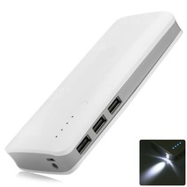 Megacapaciteit Powerbank 20000 mAh - Wit / Grijs