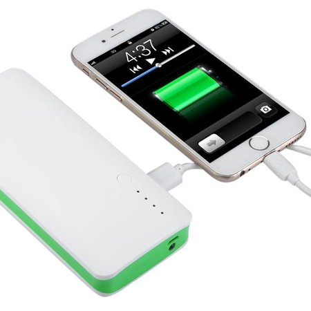 Megacapaciteit Powerbank 20000 mAh - Wit / Groen
