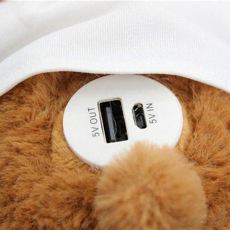 Knuffelbeer Powerbank 8800 mAh - Wit Shirt