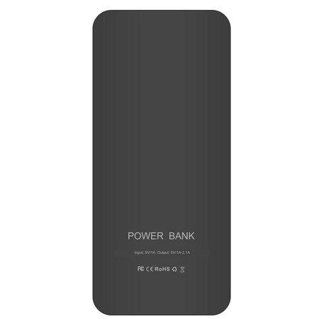 Megacapaciteit Powerbank 20000 mAh - Zwart