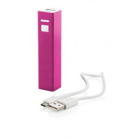 Mini Powerbank 2600 mAh - Roze