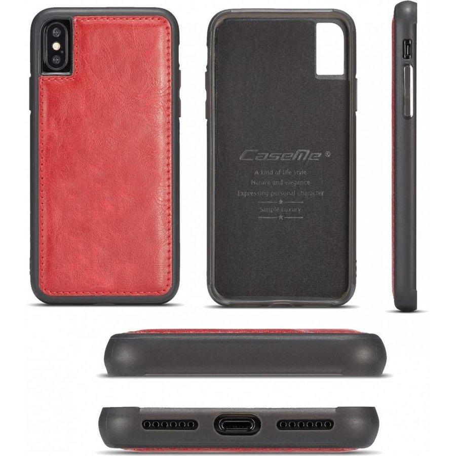 CASEME Rode Leren Bookcase voor de iPhone X