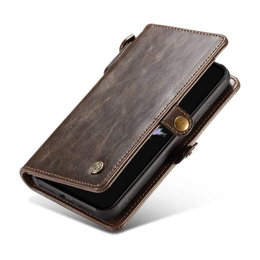 CASEME Bruine Leren Bookcase voor de iPhone X  - Copy