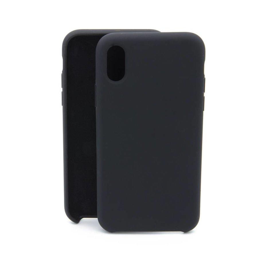 Zwart Siliconenhoesje iPhone X