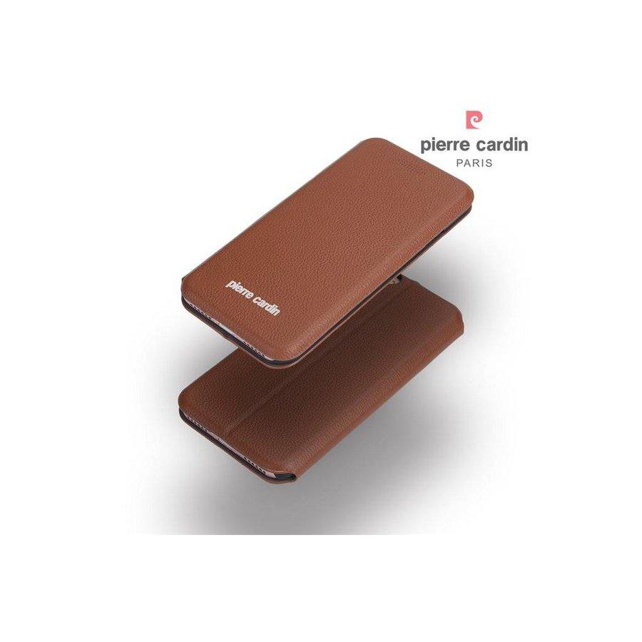 Pierre Cardin Leren Bookcase Bruin voor  iPhone 7