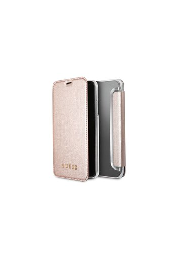 Guess Iridescent Bookcase Rose Gold iPhone X