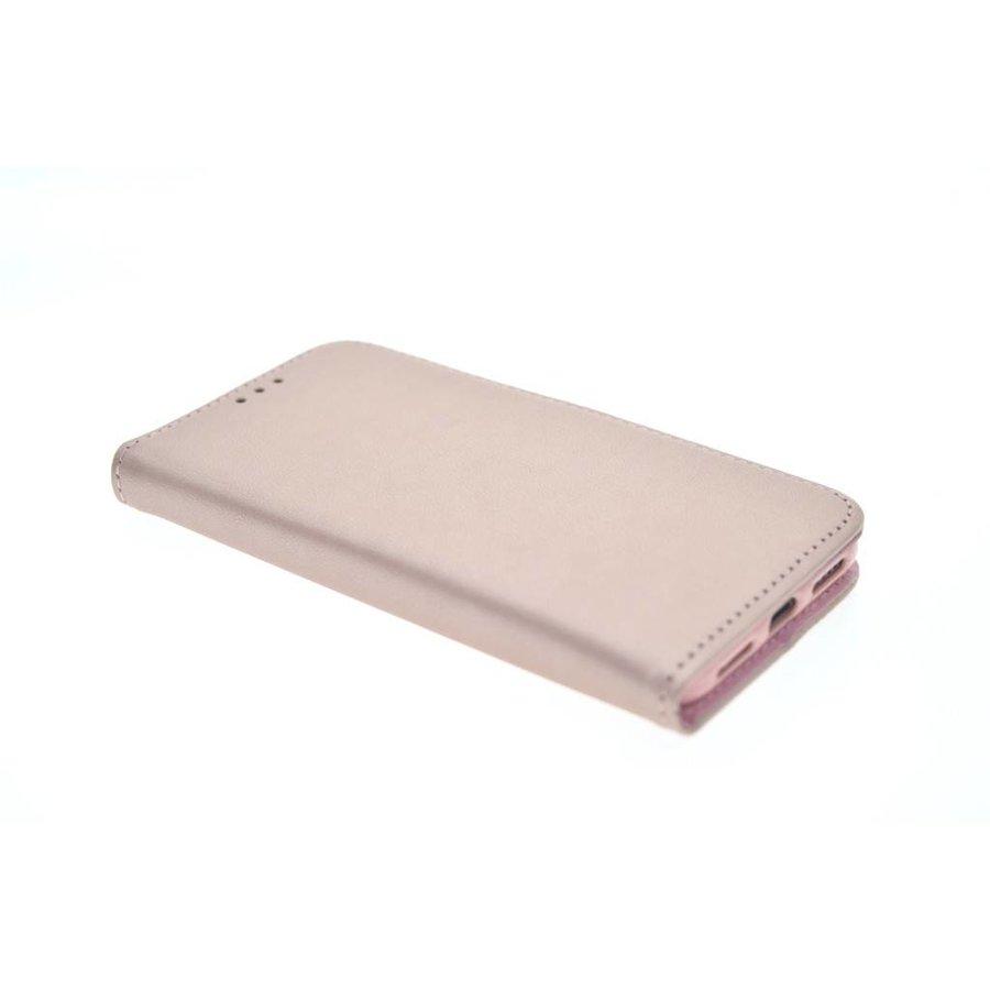 TPU Bookcase Rose Gold voor iPhone X - Copy
