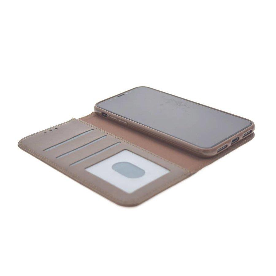 TPU Bookcase Bruin voor iPhone X