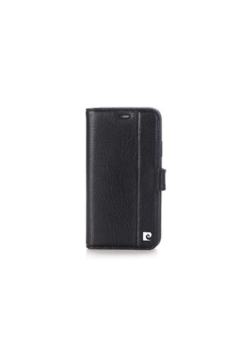 Pierre Cardin Leren Bookcase Zwart iPhone X