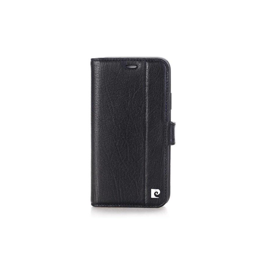 Pierre Cardin Leren Bookcase Zwart voor iPhone X