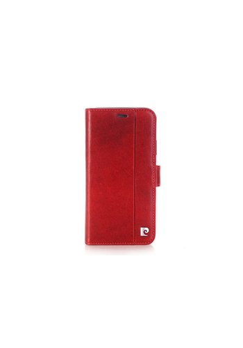 Pierre Cardin Leren Bookcase Rood iPhone X