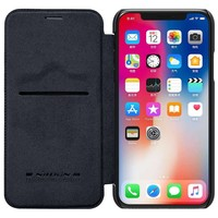 Nillkin Qin Leren Bookcase Zwart voor iPhone X