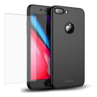 iPaky Apple iPhone 7 Plus / iPhone 8 Plus Full Cover Case met Tempered Glass Zwart