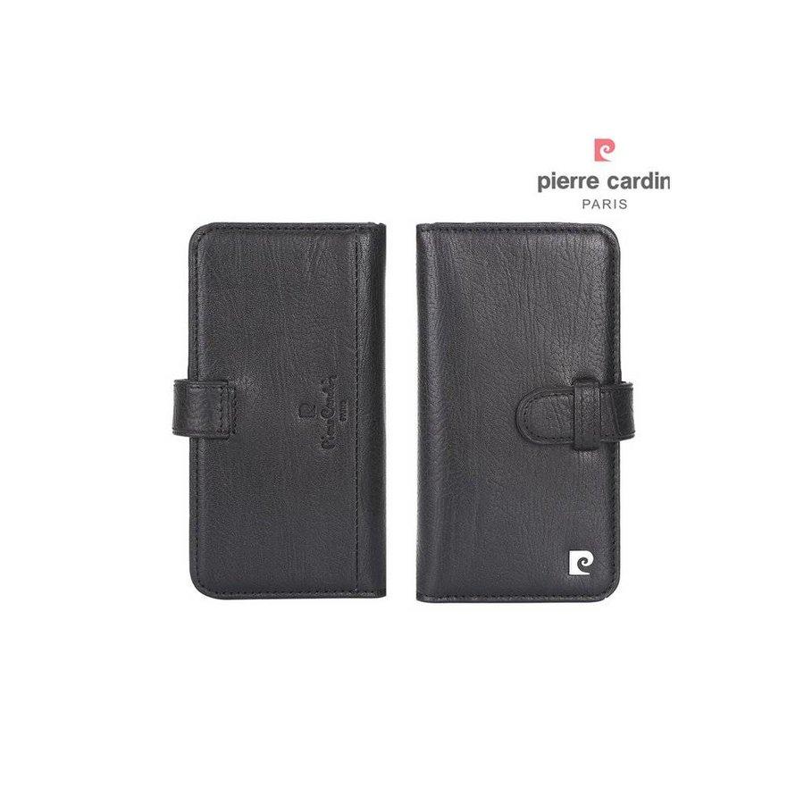 Pierre Cardin Boekmodel Genuine Leather Voor Apple IPhone 7/8 Plus - Zwart