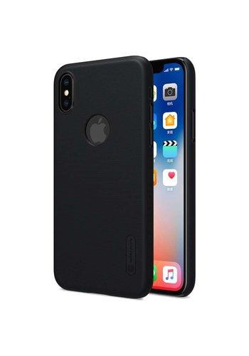 Nillkin Frosted Shield Zwart iPhone X + Screenprotector