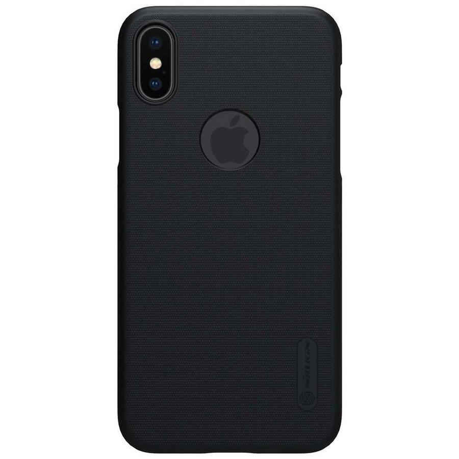 Nillkin Frosted Shield Zwart voor iPhone X + Screenprotector