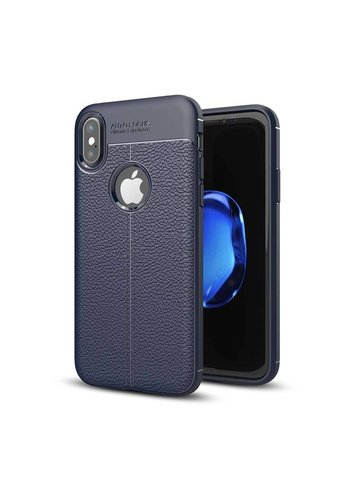 Just in Case Soft Design TPU Backcase Blauw iPhone X