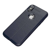 Just in Case Soft Design TPU Backcase Blauw voor iPhone X