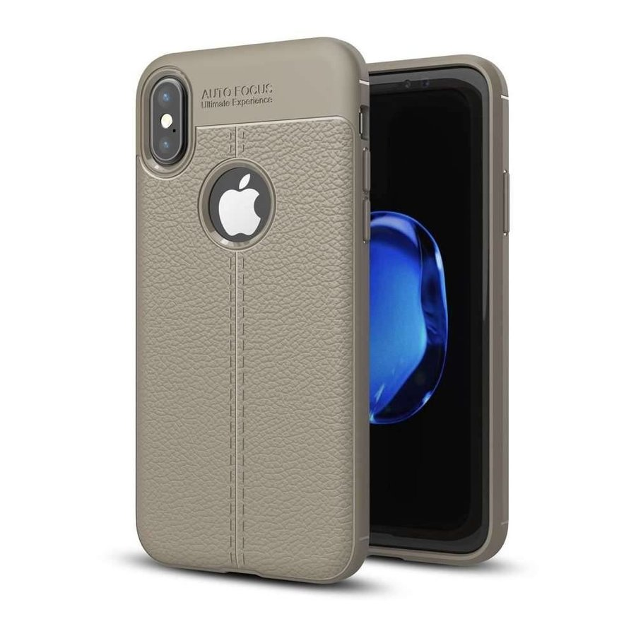 Just in Case Soft Design TPU Backcase Lichtgrijs voor iPhone X