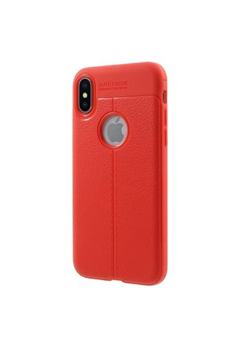 Just in Case Soft Design TPU Backcase Rood iPhone X