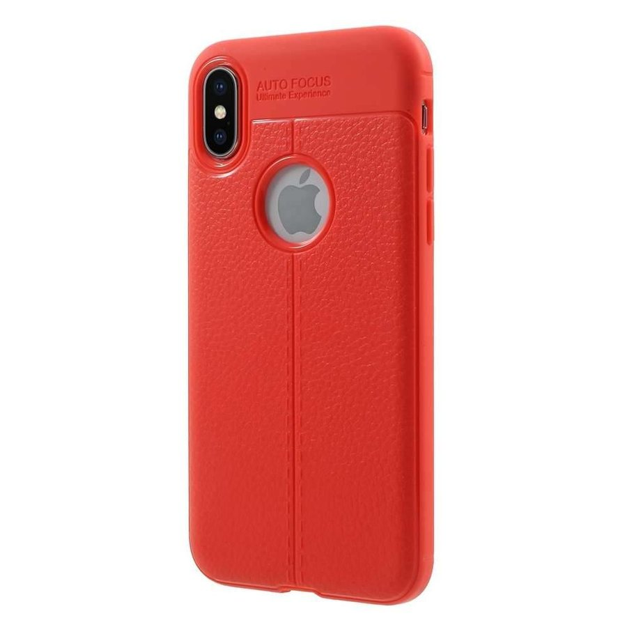 Just in Case Soft Design TPU Backcase Rood voor iPhone X