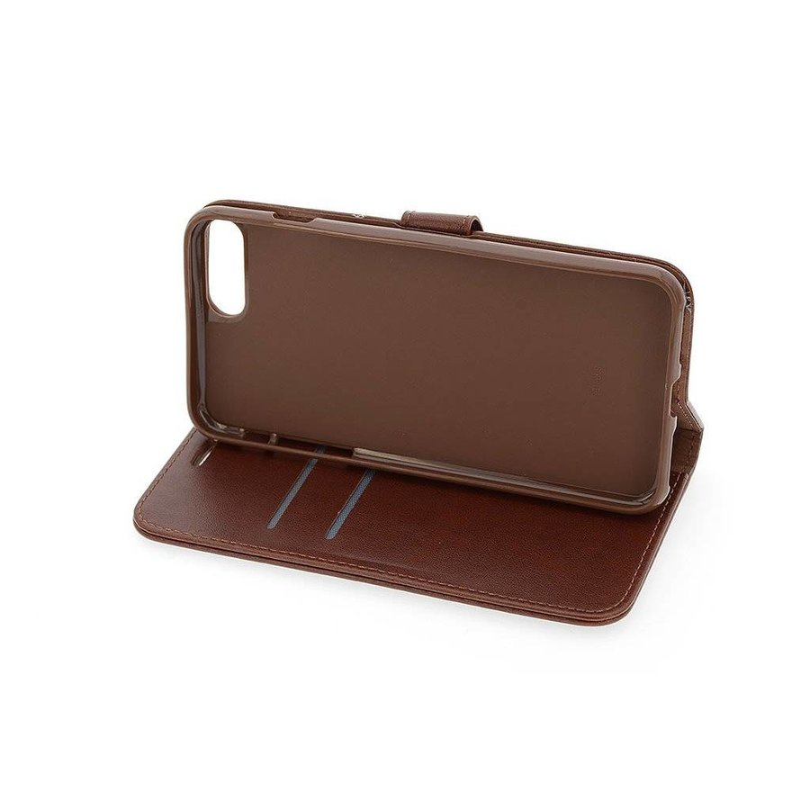 TPU Bookcase Voor Apple IPhone 7/8 Plus - Bruin