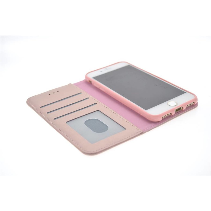 TPU Bookcase Voor Apple IPhone 7/8 - Rose Gold