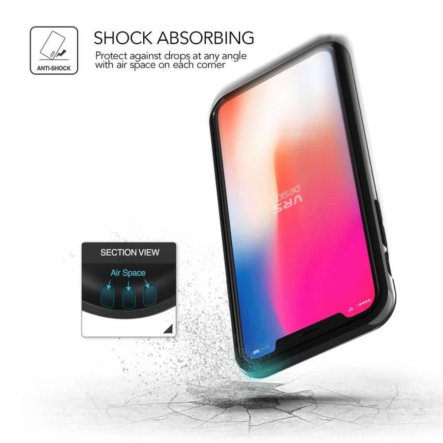 VRS Design Pro Shield Zwart Backcase voor iPhone X