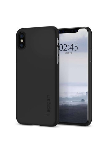 Spigen Thin Fit Zwart iPhone X