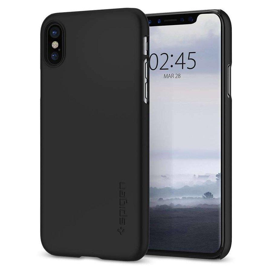 Spigen Thin Fit Zwart voor iPhone X
