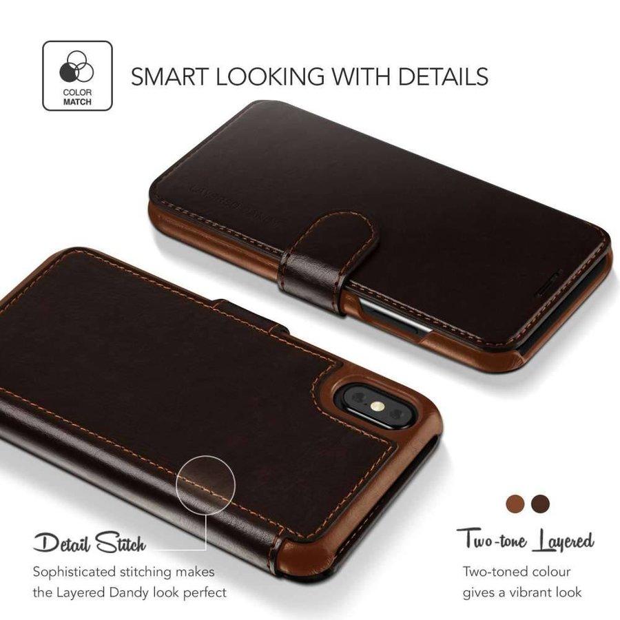 VRS Design Layered Dandy Bruin voor iPhone X