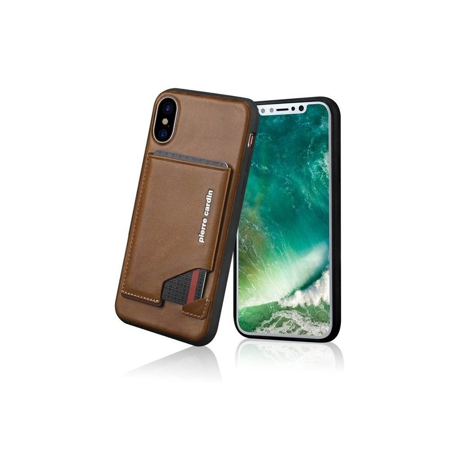 Pierre Cardin Leren Backcase Bruin iPhone X