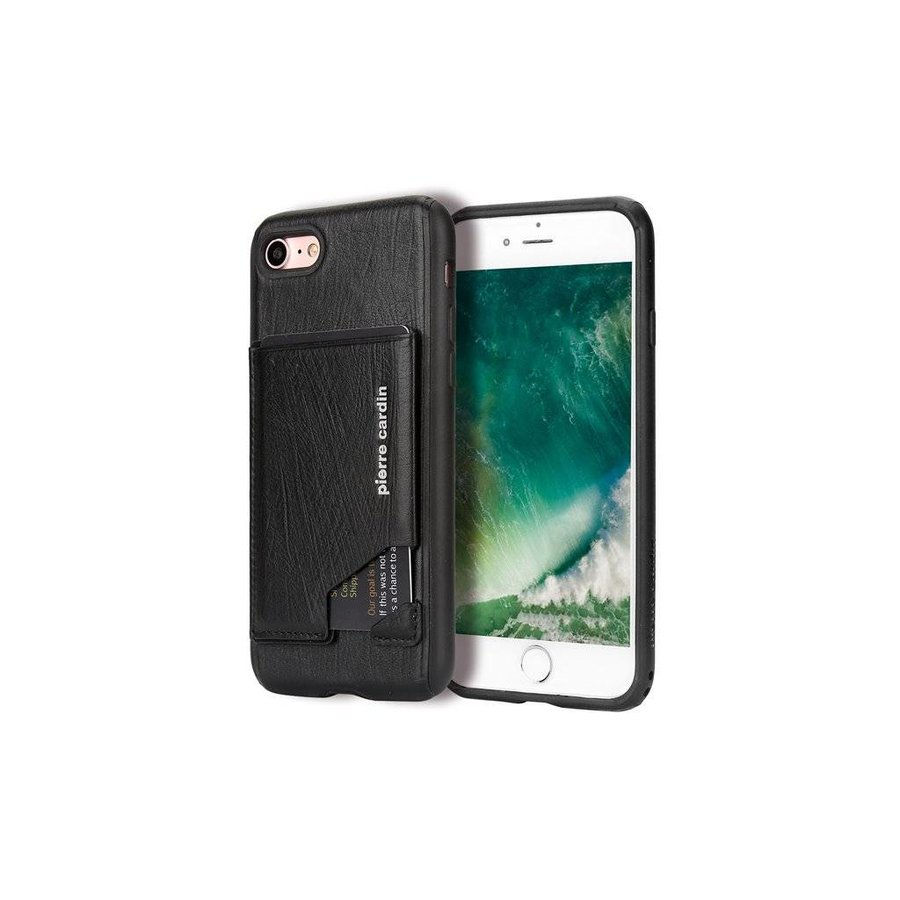 Pierre Cardin Silicone Backcover iPhone 7/8 Plus - Zwart