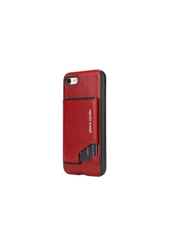 Pierre Cardin Silicone Backcover iPhone 7/8 Plus - Rood
