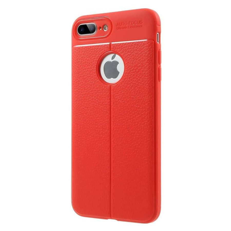 Just in Case Soft Design TPU Apple iPhone 7 Plus / 8 Plus Case (Rood)