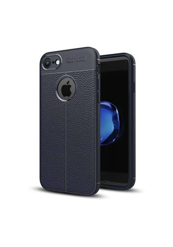 Just in Case Soft Design TPU Backcase Blauw iPhone 8