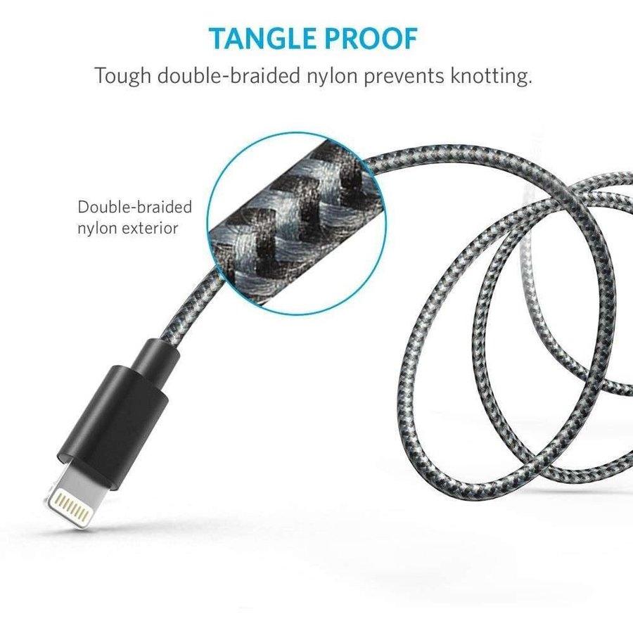 Anker Gevlochten Lightning kabel (Zwart) 1,8 meter