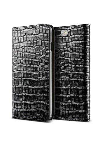 VRS Design Bookcase Krokodillenleer Grijs iPhone 7/8 Plus